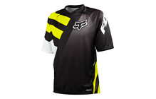 Fox Covert S/S Jersey Men black/yellow
